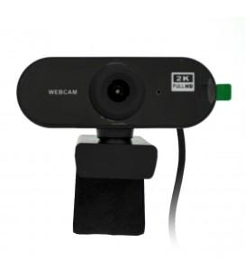 USB Webcam Mobilis PC02 Full HD 1080P 2560X1440 με Ενσωματωμένο Μικρόφωνο και Εστίαση 20mm. Μαύρη