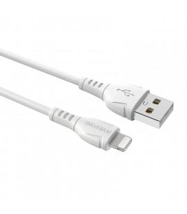 Καλώδιο σύνδεσης Borofone BX51 Triumph USB σε Lightning 2.4A 1μ Λευκό