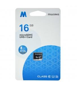 Κάρτα Μνήμης MiWorks MicroSDHC 16GB Class 10 UHS-I U1