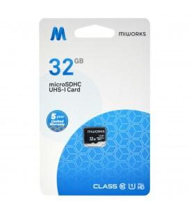 Κάρτα Μνήμης MiWorks MicroSDHC 32GB Class 10 UHS-I U1