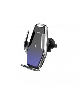 Βάση Στήριξης Αυτοκινήτου Hoco S14 Surpass με Wireless Charger 15W Ασημί