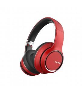 Wireless Ακουστικά Stereo Lenovo HD200 V5.0 με Μικρόφωνο, AUX, Πλήκτρα Ελέγχου & Αναπαραγωγή 20 ωρών Κόκκινο
