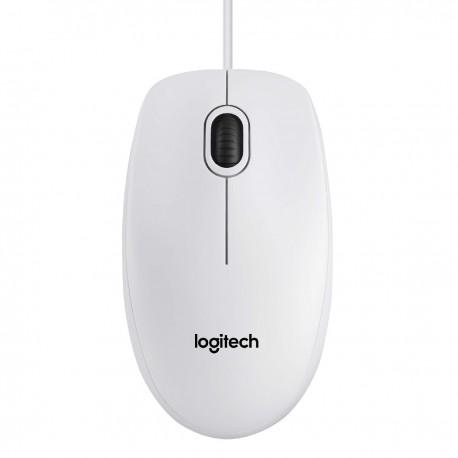 Ενσύρματο Ποντίκι Logitech USB B100 με 3 Πλήκτρα 910-003360 Λευκό