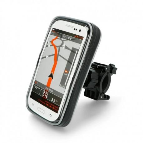 """Βάση Στήριξης Ποδηλάτου με Αδιάβροχη Θήκη moto eXtreme για Smartphone έως 6.5"""" Περιστρεφόμενη και με Έξοδο για Καλώδιο"""