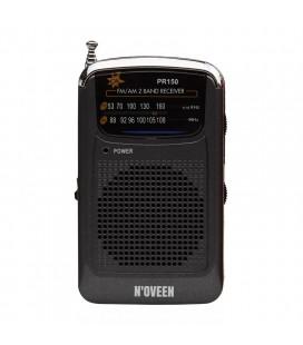 Φορητό Ραδιόφωνο N'oveen PR150  AM/FM, με Υποδοχή Ακουστικών 3.5mm,με Λειτουργία  Μπαταρίας 2 x 1,5V AAA  Μαύρο