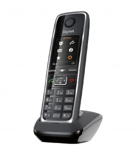 Refurbished (Εκθεσιακό) Ασύρματο Ψηφιακό Τηλέφωνο  Gigaset C530 Μαύρο με Υποδοχή Hands Free 2.5mm και Κλιπ Ζώνης