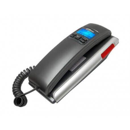 Σταθερό Ψηφιακό Τηλέφωνο Maxcom KXT400 Γκρί - Ασημί με Οθόνη και Ένδειξη Εισερχόμενης Κλήσης Led