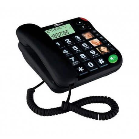 Σταθερό Ψηφιακό Τηλέφωνο Maxcom KXT480 Μαύρο με Οθόνη, Ένδειξη Εισερχόμενης Κλήσης Led και Μεγάλα Πλήκτρα