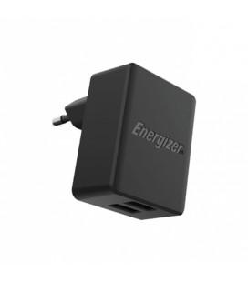 Φορτιστής Ταξιδίου Energizer με 2 θύρες USB-A 12W 2.4A Μαύρο