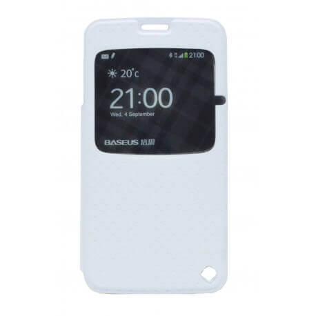 Θήκη Book S-View Baseus Finder για Samsung SM-G900F Galaxy S5 Λευκή με ενεργό S-View