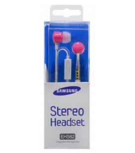 Hands Free Stereo Samsung EHS62 για B6520/B7350 3.5 mm Ρόζ