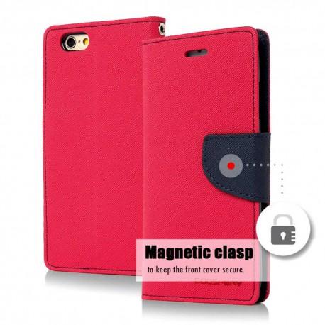 Θήκη Book Goospery Fancy Diary για Apple iPhone 6/6S Φούξια - Σκούρο Μπλέ by Mercury