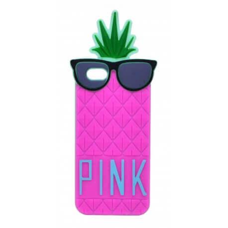 Θήκη Σιλικόνης Ancus Pineapple για Apple iPhone 6/6S Φούξια
