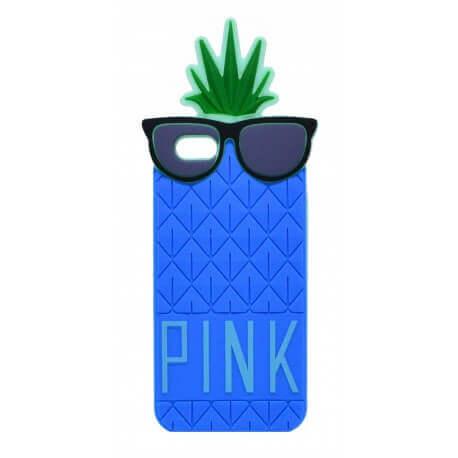 Θήκη Σιλικόνης Ancus Pineapple για Apple iPhone 6/6S Μπλέ