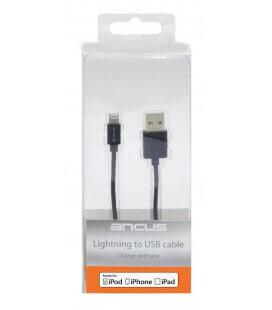 Καλώδιο σύνδεσης Ancus για iPhone/iPad/iPod Lightning Μαύρο Apple Certified MFI (Συμβατό με όλες τις Αναβαθμίσεις iOS)