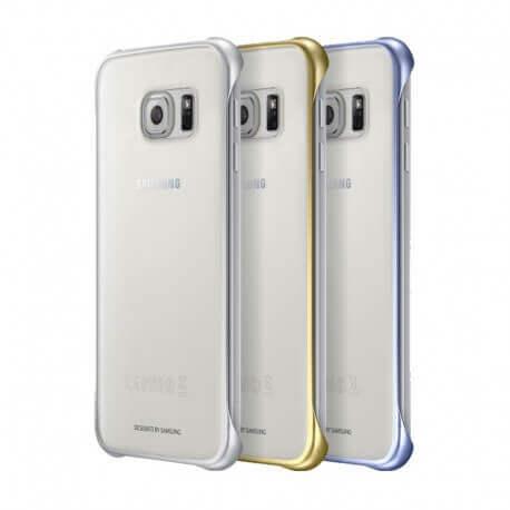 Θήκη Faceplate Samsung Clear Cover EF-QG920BKEGCN για SM-G920F Galaxy S6 Μαύρο - Χρυσό - Ασημί Asia Pack