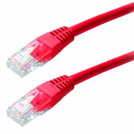 Καλώδιο Δικτύου Jasper Cat 5E UTP 1m Κόκκινο Patch Cord