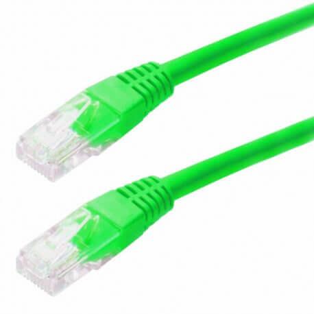 Καλώδιο Δικτύου Jasper Cat 5E UTP 2m Πράσινο Patch Cord