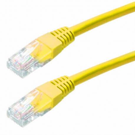 Καλώδιο Δικτύου Jasper Cat 5E UTP 5m Κίτρινο Patch Cord