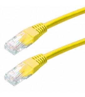 Καλώδιο Δικτύου Jasper Cat 5E UTP 1m Κίτρινο Patch Cord