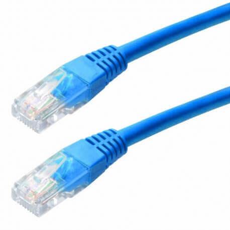 Καλώδιο Δικτύου Jasper Cat 5E UTP 3m Μπλέ Patch Cord