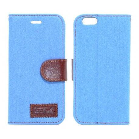 Θήκη Book Ancus Teneo Fabric για Apple iPhone 6/6S Ανοιχτό Μπλέ