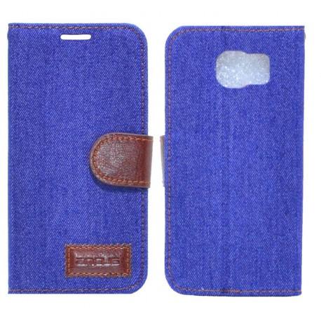 Θήκη Book Ancus Teneo Fabric για Samsung SM-G920F Galaxy S6 Μπλέ