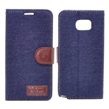 Θήκη Book Ancus Teneo Fabric για Samsung SM-N920F Galaxy Note 5  Σκούρο Μπλε