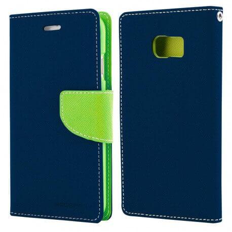 Θήκη Book Goospery Fancy Diary για Samsung SM-G928F Galaxy S6 Edge+ Σκούρο Μπλέ - Lime by Mercury