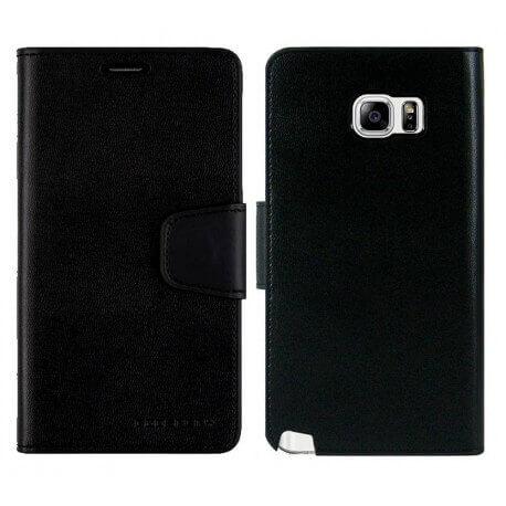 Θήκη Book Goospery Sonata Diary για Samsung SM-N920F Galaxy Note 5 Μαύρη by Mercury