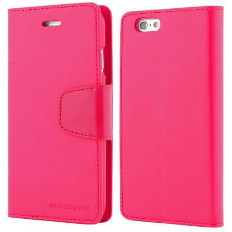 Θήκη Book Goospery Sonata Diary Case για Apple iPhone 6/6S Φούξια by Mercury