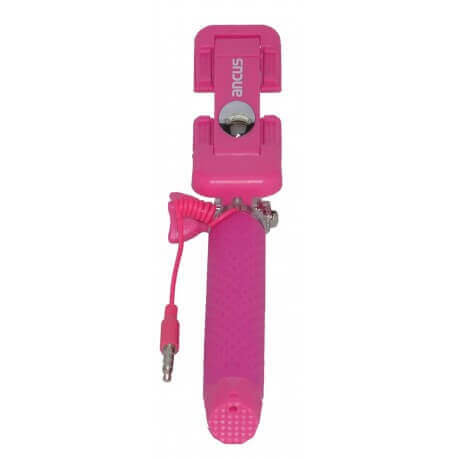 Selfie Stick Ancus Colour Μώβ με Καλώδιο Jack 3.5mm (Μήκος Κονταριού 13.5cm, Μήκος Ανοίγματος 65cm)