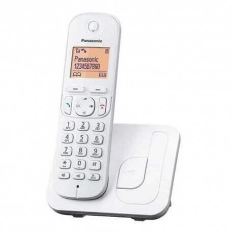 Ασύρματο Ψηφιακό Τηλέφωνο Panasonic KX-TGC210 Λευκό με Ανοιχτή Ακρόαση, Φραγή ενοχλητικών Κλήσεων και Λειτουργία Eco