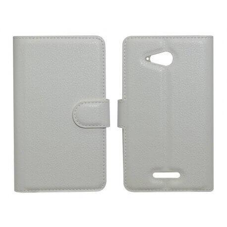 Θήκη Book Ancus Teneo TPU για Sony Xperia  E4G/E4G Dual Λευκή