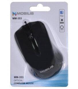 Ενσύρματο Ποντίκι Mobilis MM-353 3 Πλήκτρων 800 DPI Μαύρο (104*66*39mm)