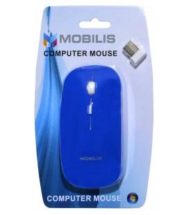 Ασύρματο Ποντίκι Mobilis MM-131 4 Πλήκτρων 1600 DPI Μπλέ (112*57*35mm)