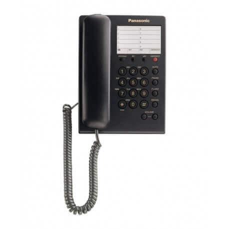 Τηλεφωνική Συσκευή Ξενοδοχειακού Τύπου Panasonic KX-TS550GRB Μαύρο με Emergency Button
