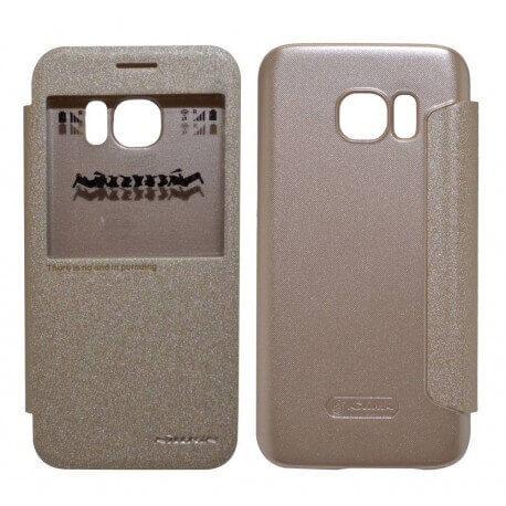 Θήκη Book S-View Nillkin Sparkle για Samsung SM-G930F Galaxy S7 Χρυσαφί με ενεργό S-View