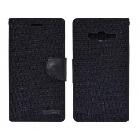 Θήκη Book Ancus Canvas Diary για Samsung SM-G7102 Galaxy Grand 2 Μαύρη by Mercury