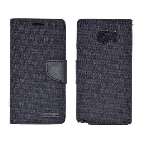 Θήκη Book Goospery Canvas Diary για Samsung SM-N920F Galaxy Note 5 Μαύρη by Mercury