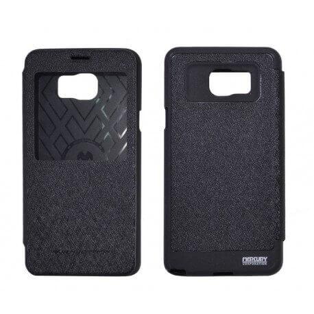 Θήκη Book Goospery Wow Bumper View για Samsung SM-N920F Galaxy Note 5 Μαύρη by Mercury