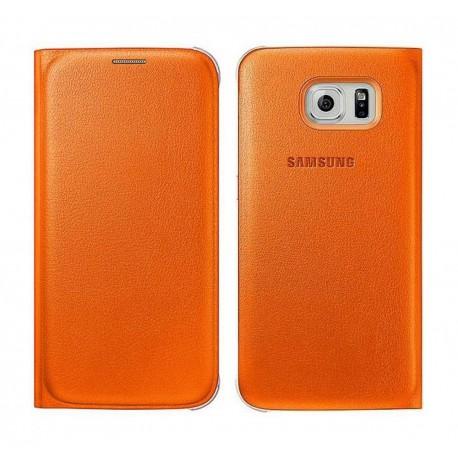 Θήκη Book Samsung Flip Wallet EF-WG920POEGWW για SM-G920F Galaxy S6 Πορτοκαλί
