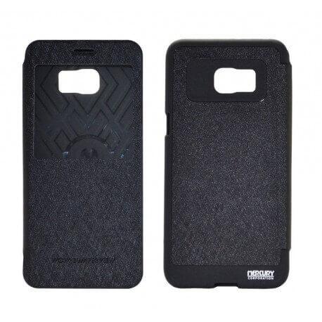 Θήκη Book Goospery Wow Bumper View για Samsung SM-G928F Galaxy S6 Edge+ Μαύρη by Mercury