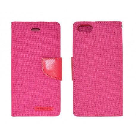 Θήκη Book Goospery Canvas Diary για Apple iPhone 6/6S Ρόζ by Mercury