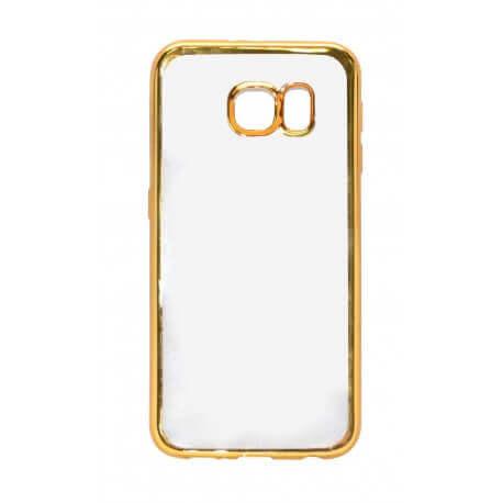 Θήκη Electroplating TPU Ancus για Samsung SM-G920F Galaxy S6 Χρυσαφί - Διάφανη