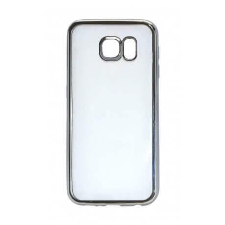 Θήκη Electroplating TPU Ancus για Samsung SM-G920F Galaxy S6 Μαύρη - Διάφανη