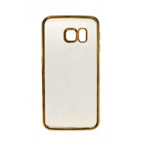 Θήκη Electroplating TPU Ancus για Samsung SM-G925F Galaxy S6 Edge Χρυσαφί - Διάφανη