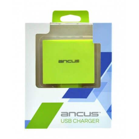 Φορτιστής Ταξιδίου Ancus Multi Charger 4 Usb 4.2A Λευκό - Πράσινο