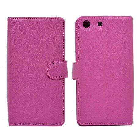 Θήκη Book Ancus Teneo για Sony Xperia M5/M5 Dual TPU Φούξια