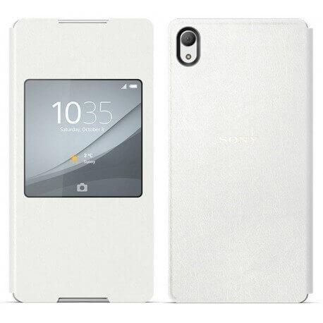Θήκη Book Sony Style Cover Window SCR30 για Xperia Z3+ E6553 Λευκή Original